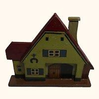 German Folk Art Flat Wood Toy House Blacksmith