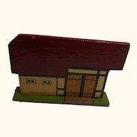 German Folk Art Flat Wood Toy House Barn Coop