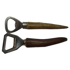 2 Bottle Opener Deer Antler Handle