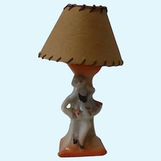 Dollhouse Lamp China Dancing Women German Antique