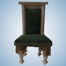 Antique German Dollhouse Wood Chair