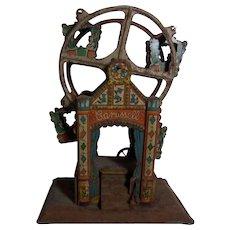 Old Vintage Tin Toy Ferris Wheel To Restore