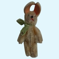 Vintage German Schuco Tin Body Mohair Rabbit Bunny
