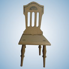 Vintage German Wood Dollhouse Chair