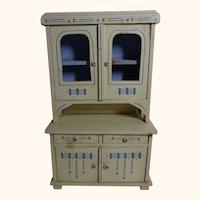 Art Nouveau German Wood Doll or Dollhouse Buffet