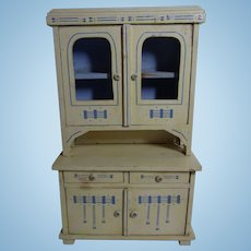 Art Nouveau German Wood Doll or Dollhouse Buffet