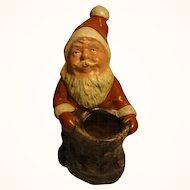 Vintage German Pottery Santa Claus Candy Dispenser