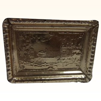 Antique German Tin Tray Erhard & Söhne or Style