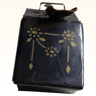 Antique German Tin Coal Box and Shovel ca.1900