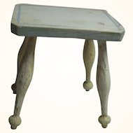 Antique German Wood Dollhouse Stool or Side Table ca.1880