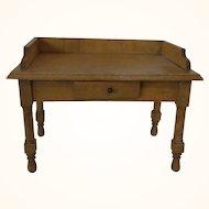 Vintage German Wood Dollhouse Table Office Desk