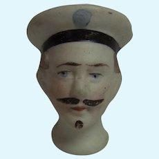 Antique German Bisque Doll Sailor Head