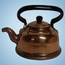 Vintage German Dollhouse Copper with Iron Handle Hot Water Kettle