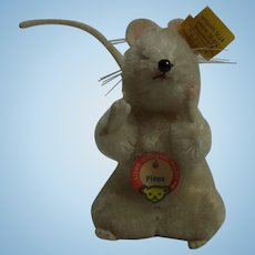 Vintage German Steiff Pieps Mouse Button and Tag
