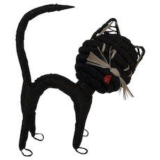 Vintage German String Halloween Cat ca.1950s