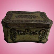 Antique German Tin Dollhouse Box
