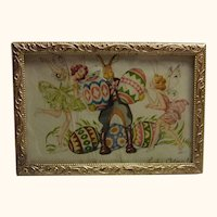 Vintage German Dollhouse Ormolu Frame Happy Easter