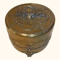 Antique Round Copper Empire Box