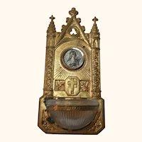 Vintage German Ormolu Dollhouse Holy Water Font