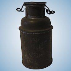 Old German Tin Dollhouse Milk Can