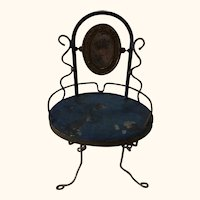 Antique German Tin and Wire Beauty Table