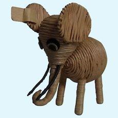Vintage German String Animal Elephant ca.1950s