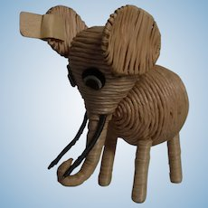 Vintage German String Animal Elephant ca.1950s