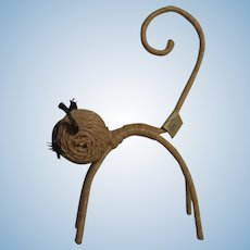 Vintage German String Animal Halloween Cat ca.1950s