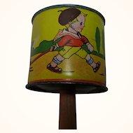 Vintage German Child Doll Tin Toy Rattle