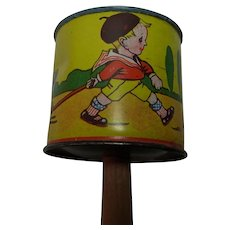 Vintage German Child Doll Tin Toy Rattle