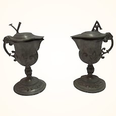 Vintage German Dollhouse House Altar Pewter Wine Water Pitcher