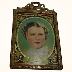 Old Vintage Ormolu Dollhouse Picture Frame