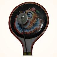 Vintage German Child Tin Toy Noisemaker Clown