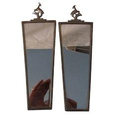 Pair Small German Art Deco Wall Mirror