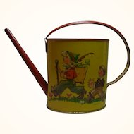 Vintage Western Germany Tin Toy Watering Can