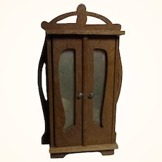 Art Nouveau Cupboard Dollhouse German