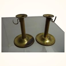 Pair German Doll or Dollhouse Candle Holder Copper