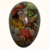 Vintage Cardboard Easter Egg German Candy Container