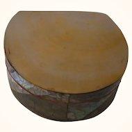 Vintage Mother of Pearl Box Trinket Box