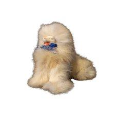 Vintage German Fur Dog Sitting for Fashion Doll