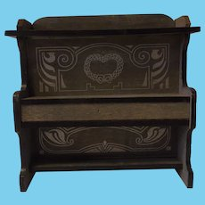 Vintage Wood Dollhouse Piano