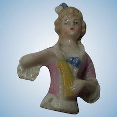 Old German Half Doll Porcelain China
