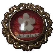 Relic Pendant Pope S. Pius Pp X with Wax Seal