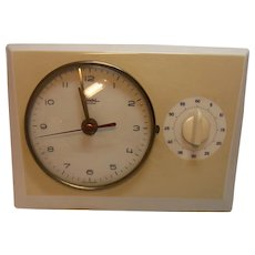 Mid Century 60´s  German DIEHL Electro Wall Clock Kitchen Clock