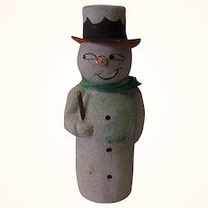 Vintage German Cardboard Snowman