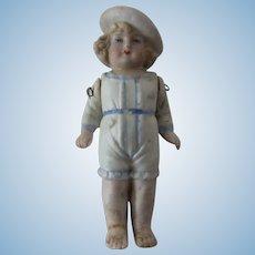 "Antique German All Bisque Doll 4"""