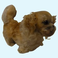 Vintage German Steiff Peky Pekingese Dog with Button