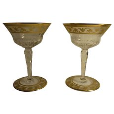 2 St Louis Crystal - France Champagne Glass