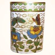 Vintage Matchstick Box Champleve Cloisonne Brass Enamel Work