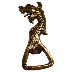 Vintage Chrome Bottle Opener Dragon